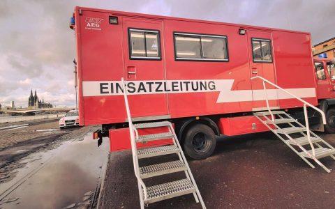 Evakuierungsmaßnahmen in Deutz