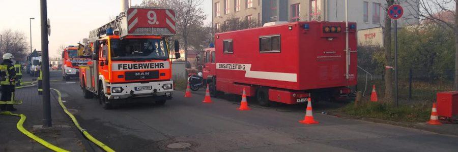 Großbrand in Köln-Lind